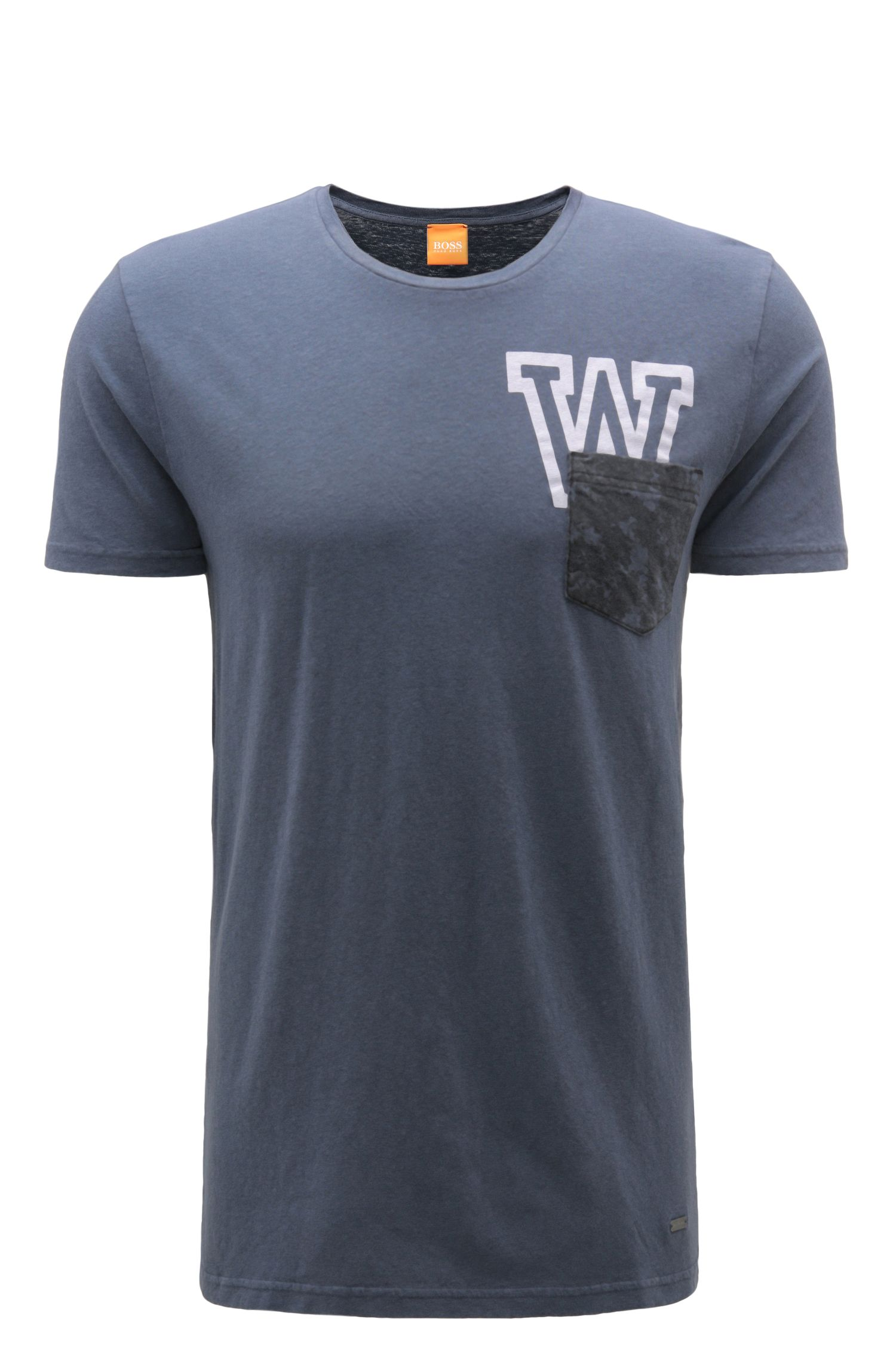 Camiseta relaxed fit en mezcla de algodón con lino: 'Touchback 3'