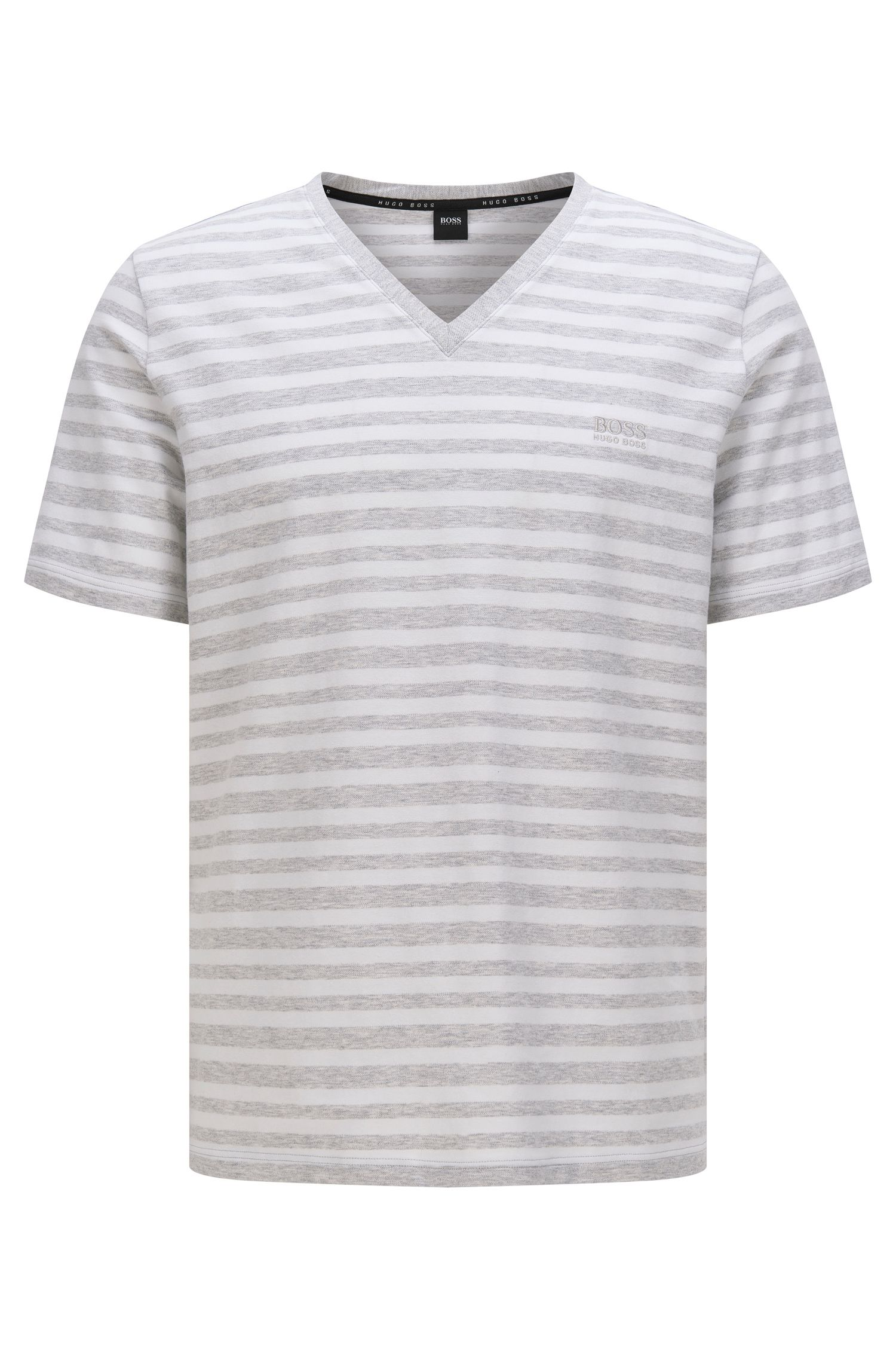 Striped t-shirt in stretch cotton: 'T-Shirt VN'