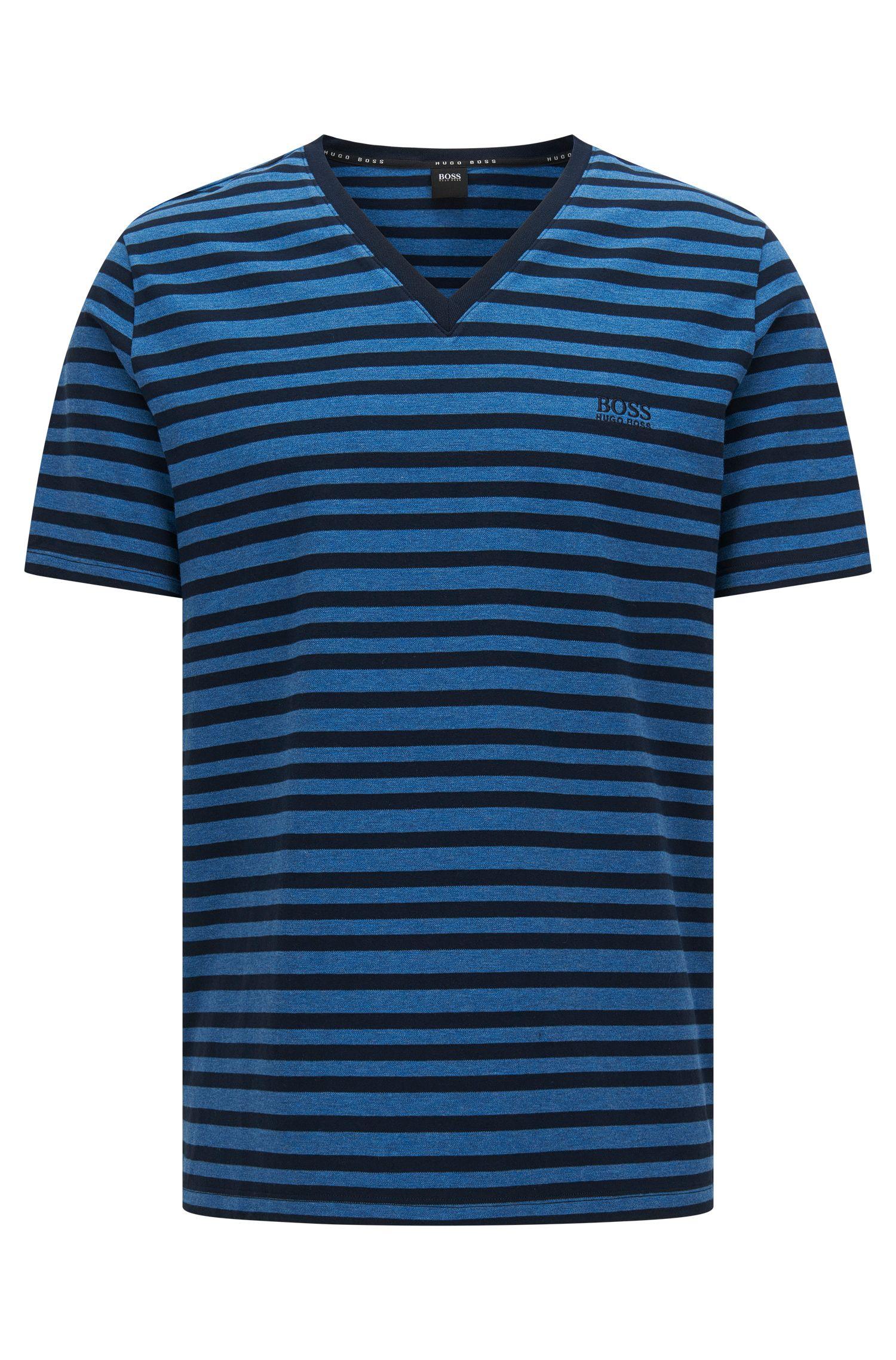 Camiseta a rayas en algodón elástico: 'T-Shirt VN'