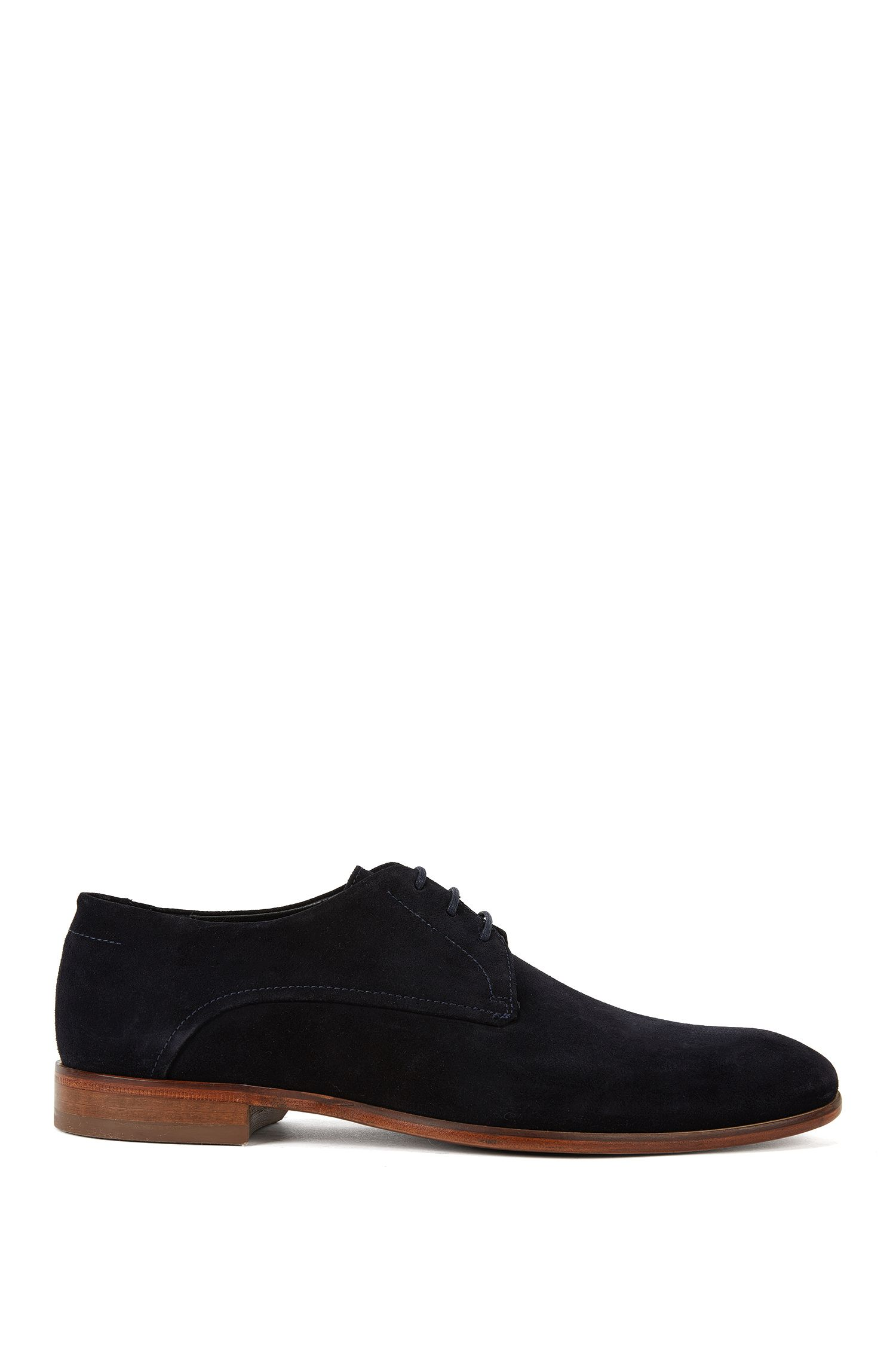 Plain leather lace-up shoes: 'Dressapp_Derb_sd'