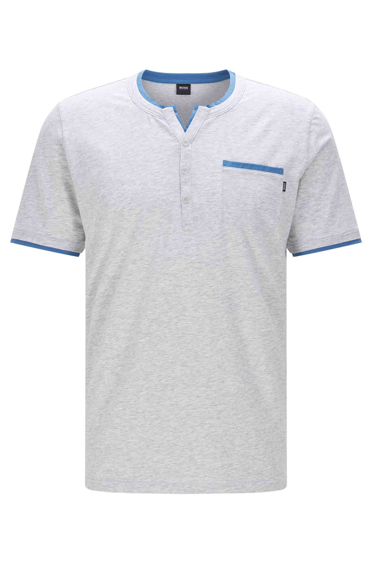 Pyjama T-Shirt aus elastischem Baumwoll-Mix mit Modal: 'T-Shirt BP'