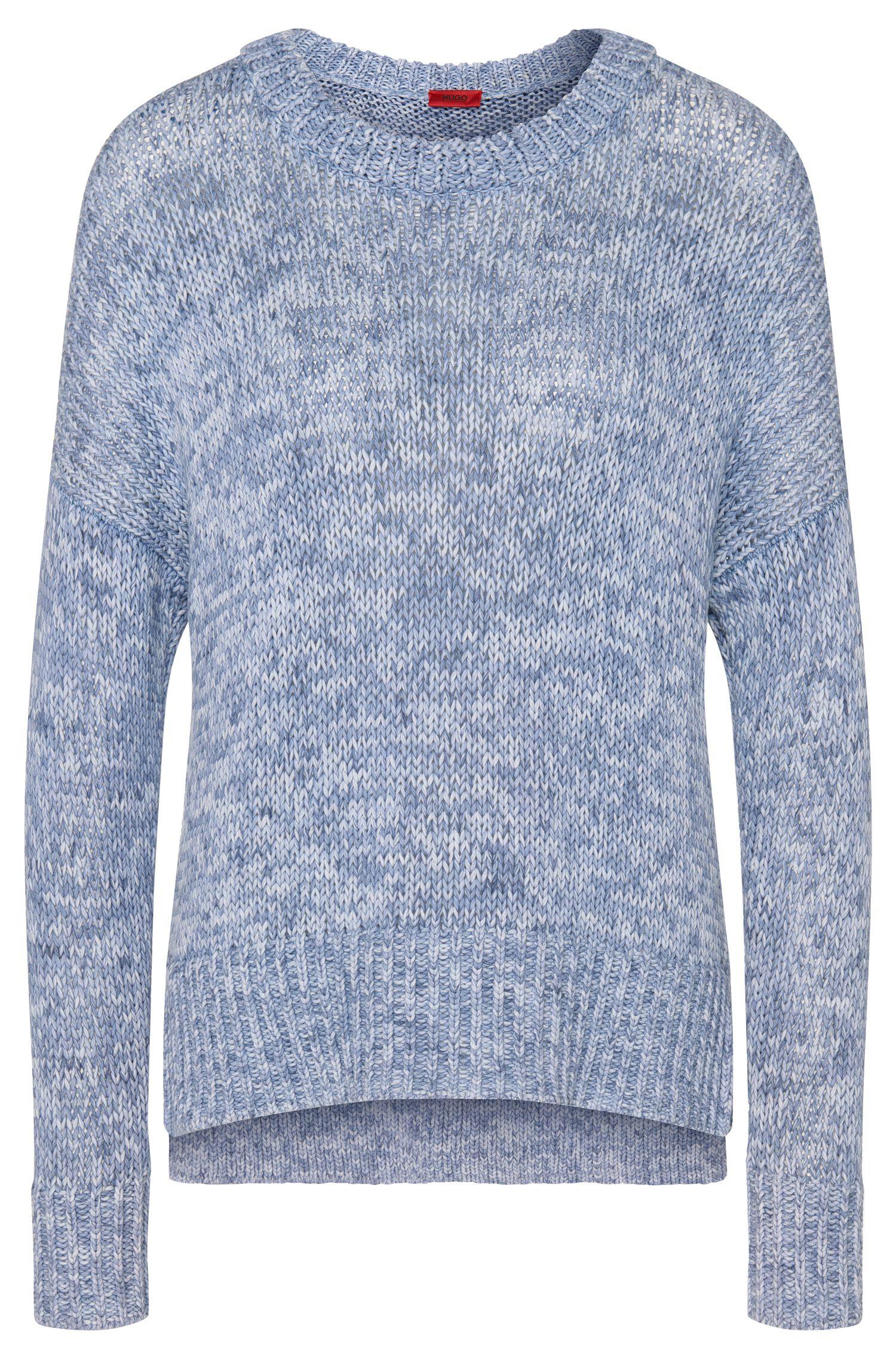 Melierter Pullover aus reiner Baumwolle: 'Sheilah'