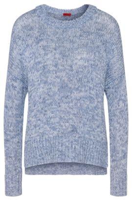 Melierter Pullover aus reiner Baumwolle: 'Sheilah', Gemustert