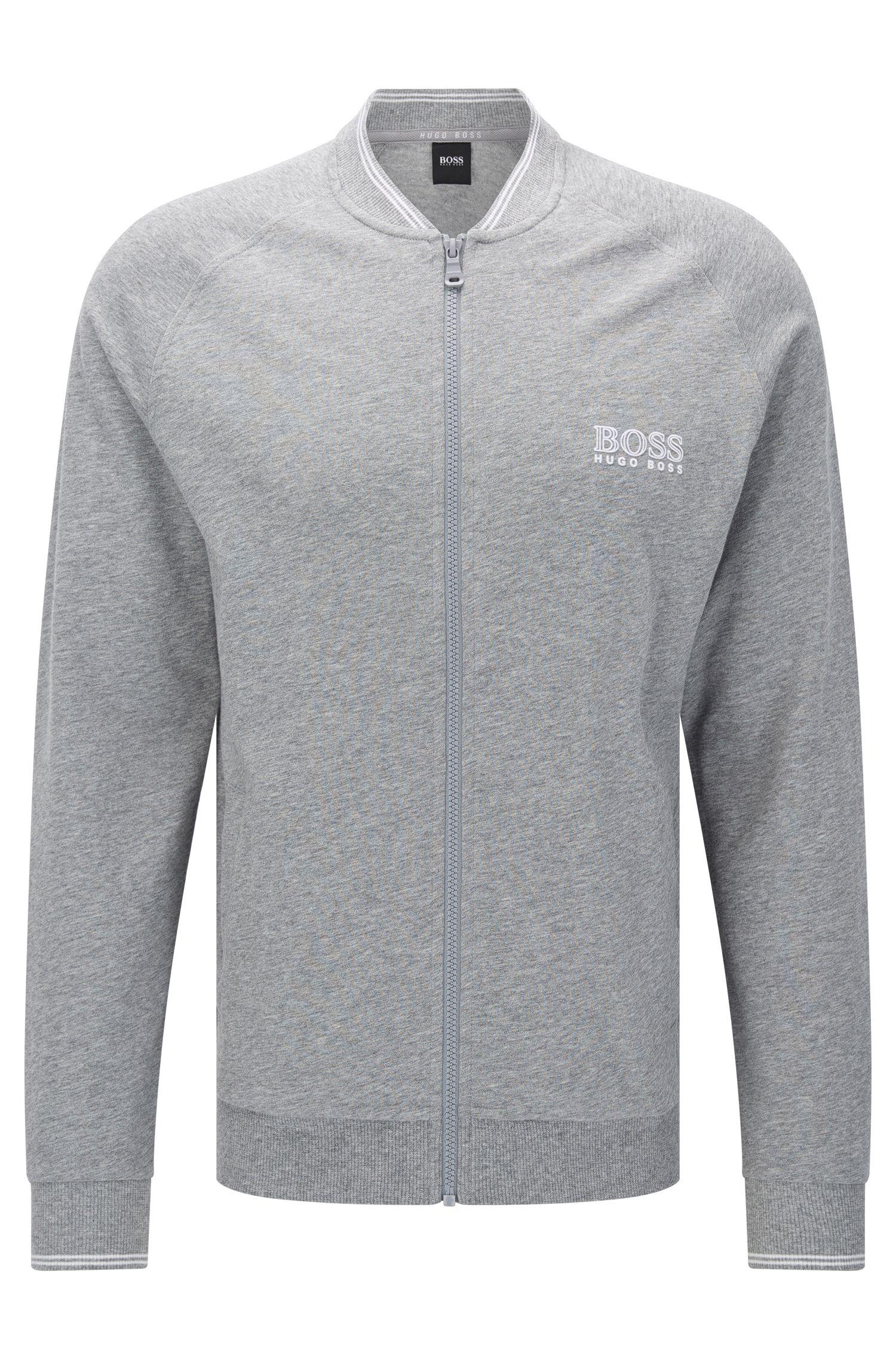 Giacca in felpa in cotone con maniche raglan: 'College Jacket Zip'