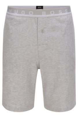 Shorts in stretch cotton with an elastic waistband: 'Short Pant EW', Grey