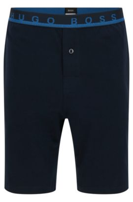 Shorts in stretch cotton with an elastic waistband: 'Short Pant EW', Dark Blue