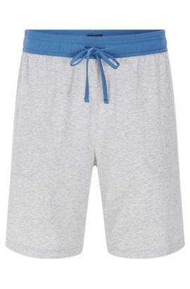 Pantalón corto de pijama en mezcla de algodón elástico con modal: 'Short Pant CW', Gris