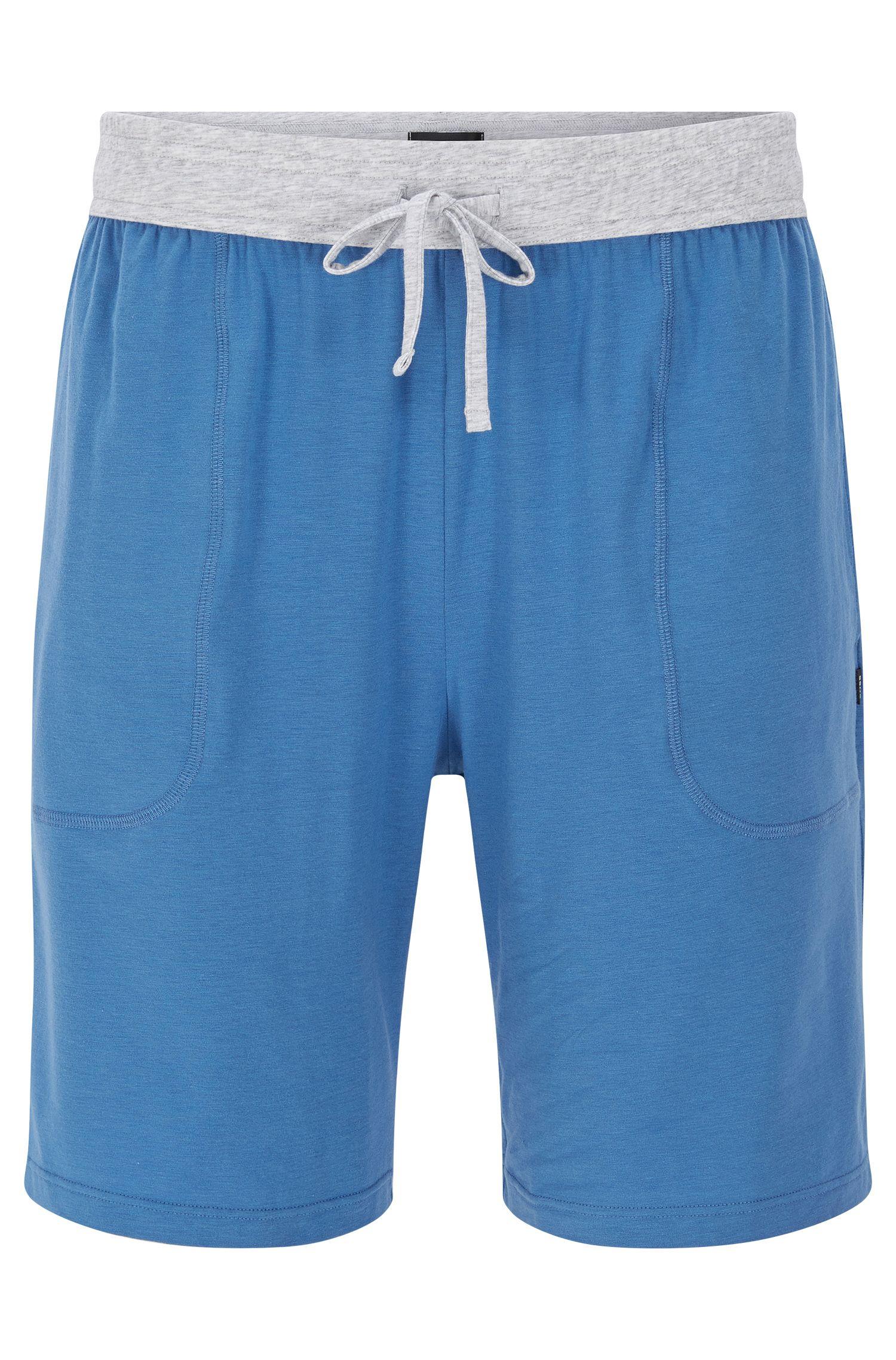 Korte pyjamabroek van een katoenmix met stretch met modal: 'Short Pant CW'