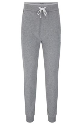 Tracksuit bottoms in cotton with ribbed cuffs: 'Long Pant Cuffs', Grey