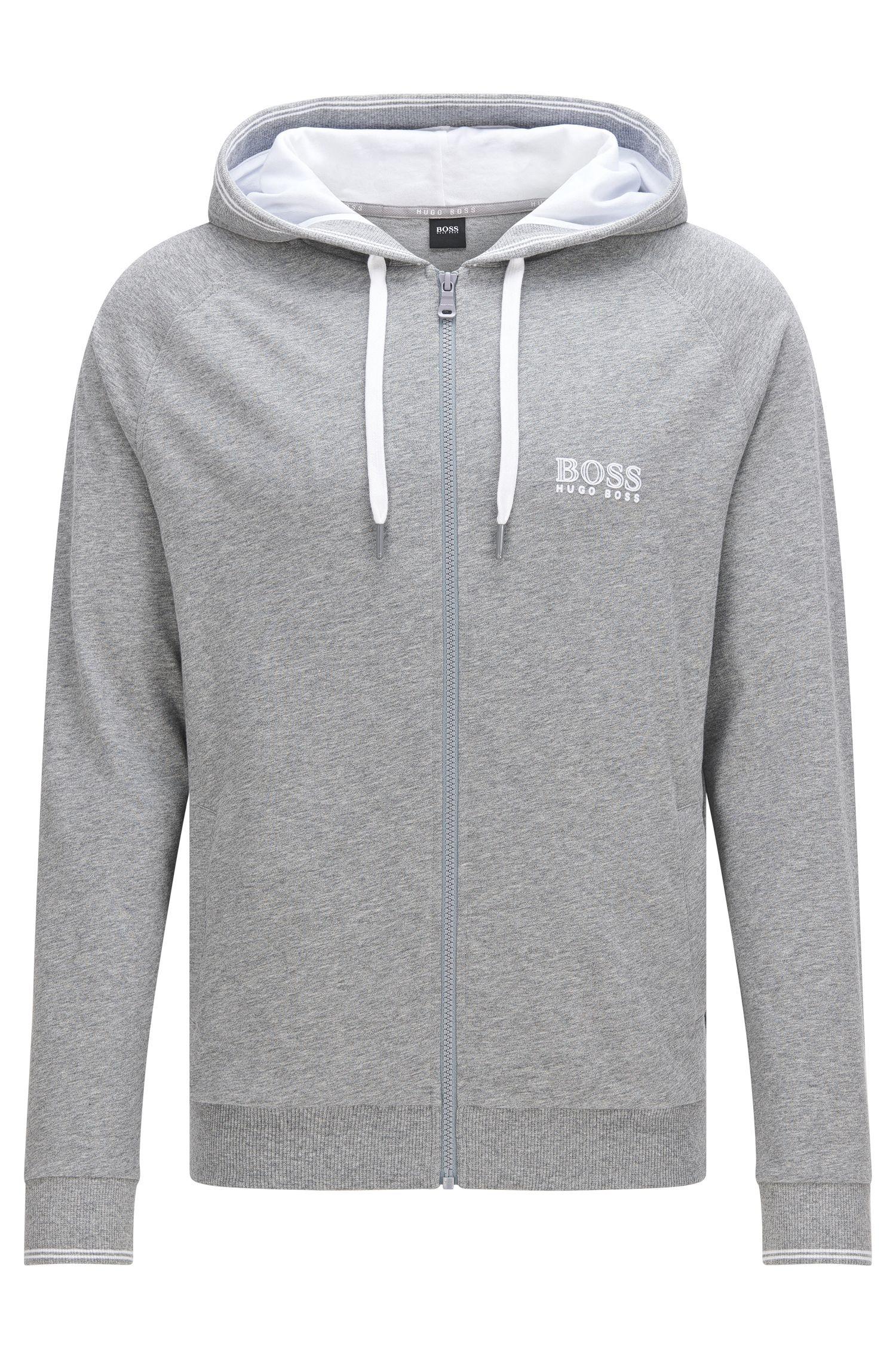 Blouson sweat en coton, à capuche: «Jacket Hooded»