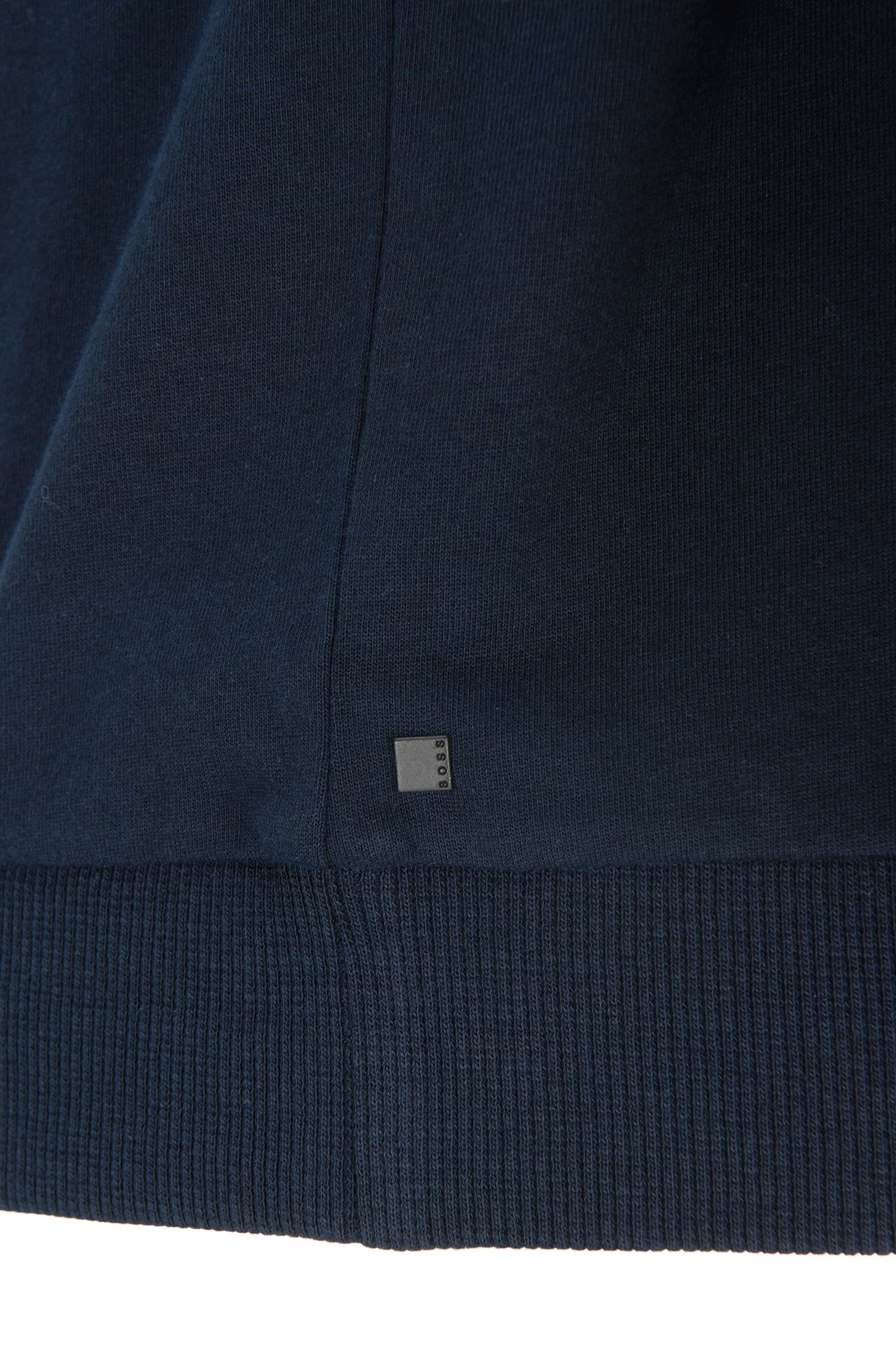 Sweat en coton à manches raglan: «Sweatshirt», Bleu foncé