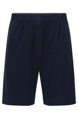 Pyjama-Shorts aus elastischem Modal-Mix mit SeaCell-Technologie: 'Short Pant EW', Dunkelblau