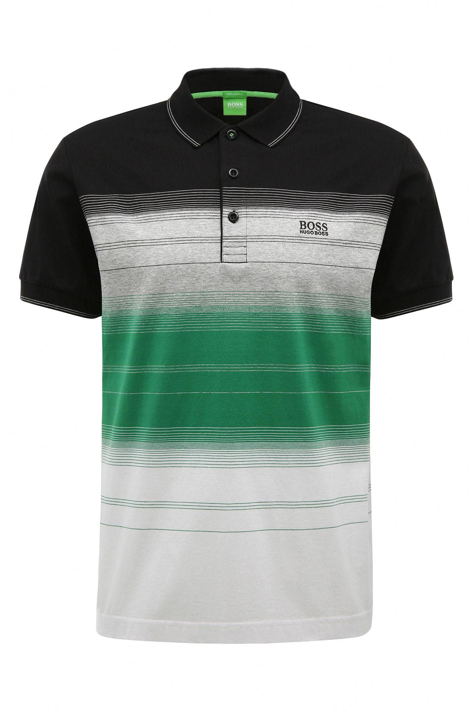 Polo regular fit in cotone con righe: 'Paddy 3'