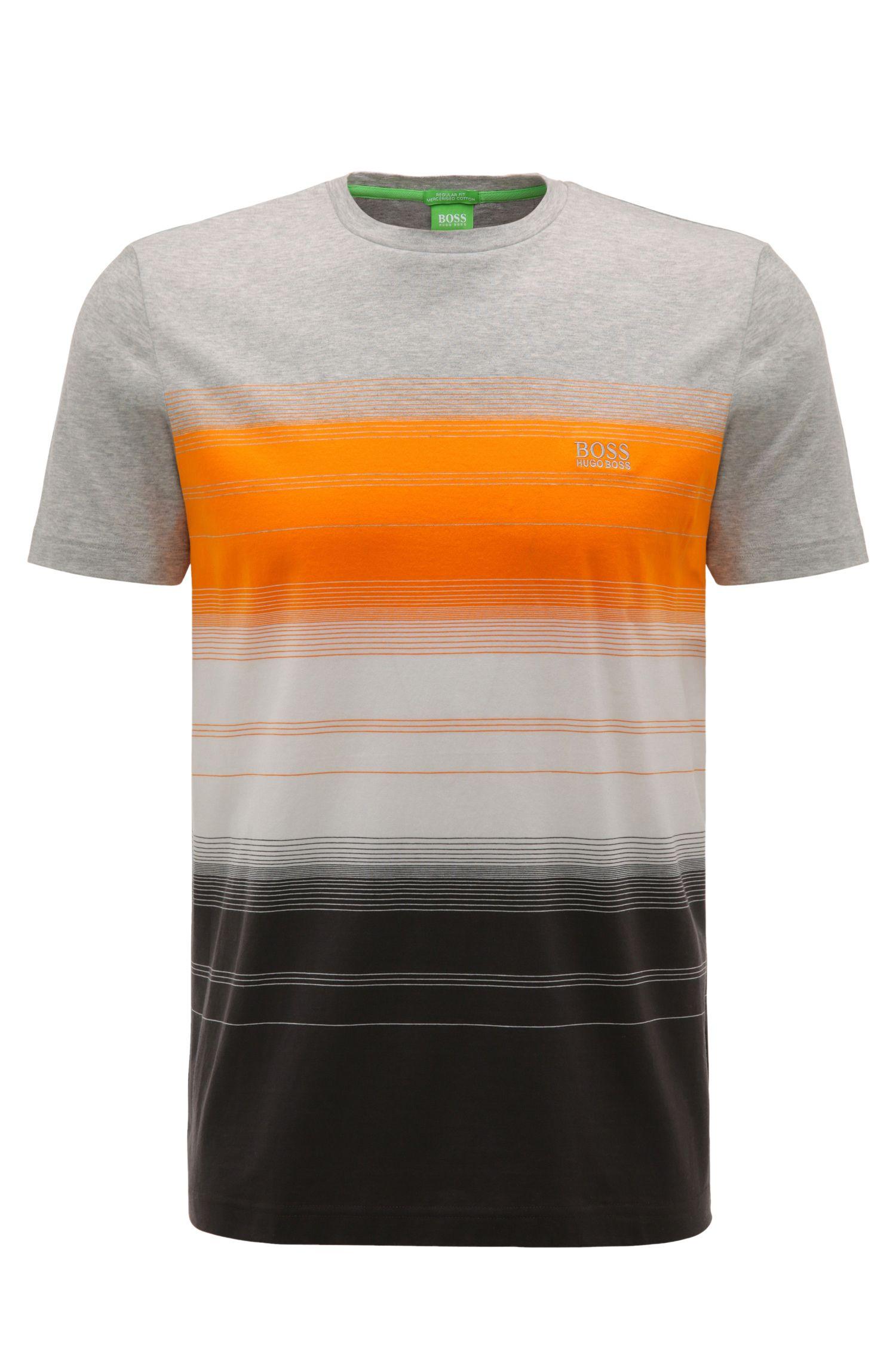 T-shirt Regular Fit en coton à motif rayé: «Tee12»
