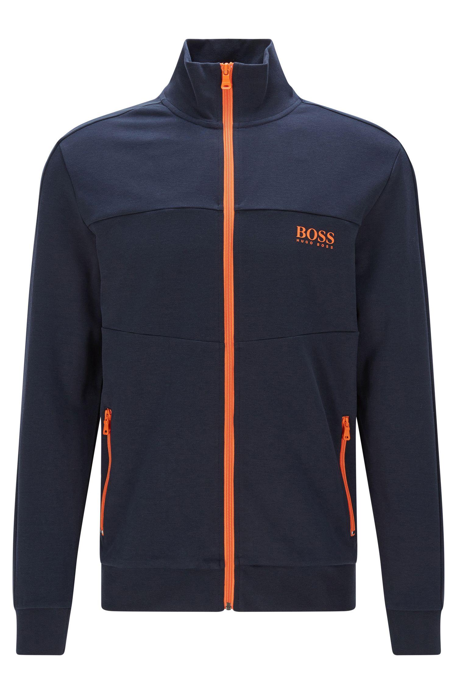 Blouson sweat Regular Fit en coton mélangé: «Jacket Zip»