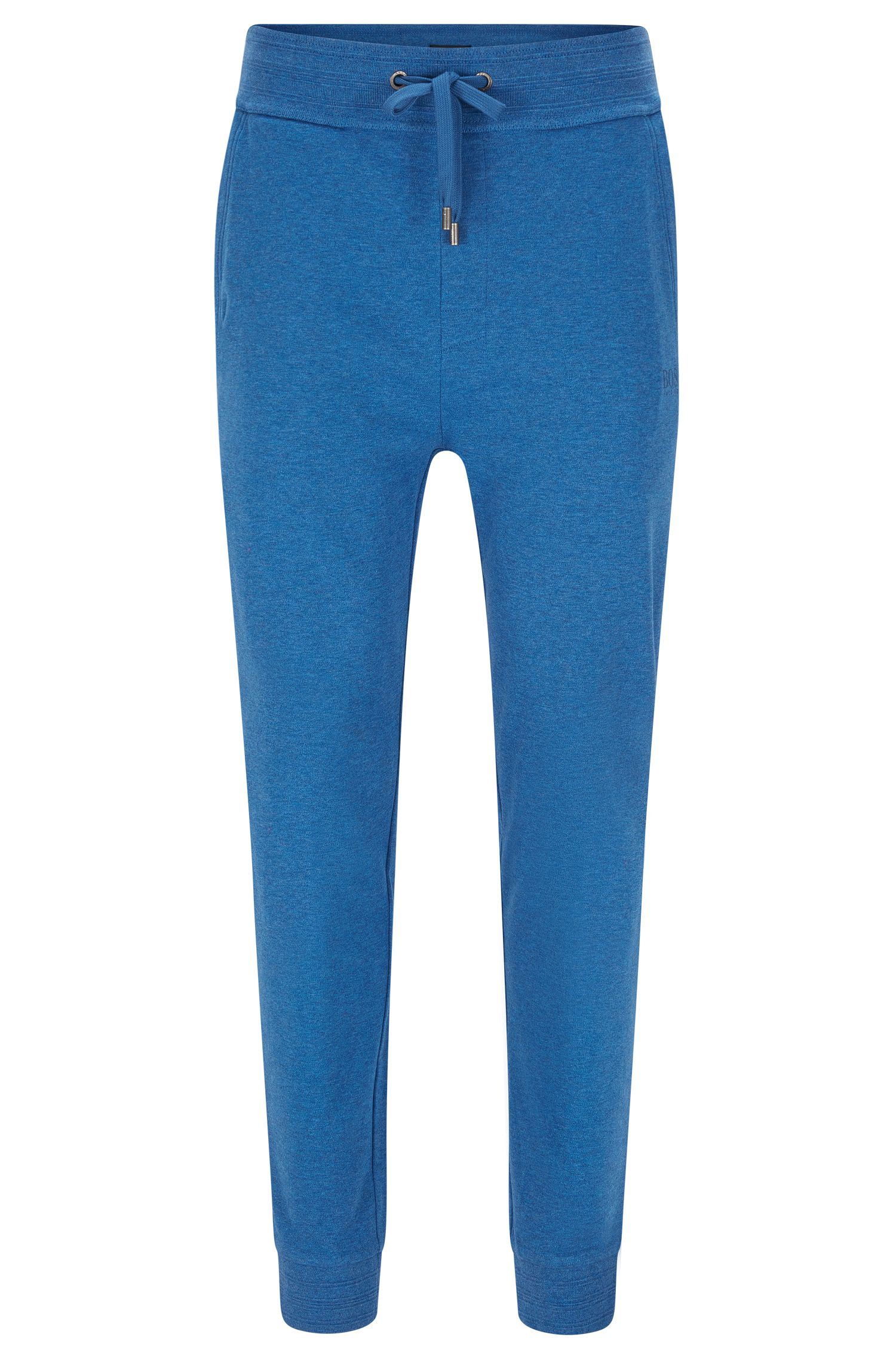 Finely mottled tracksuit bottoms in cotton: 'Long Pant Cuffs'