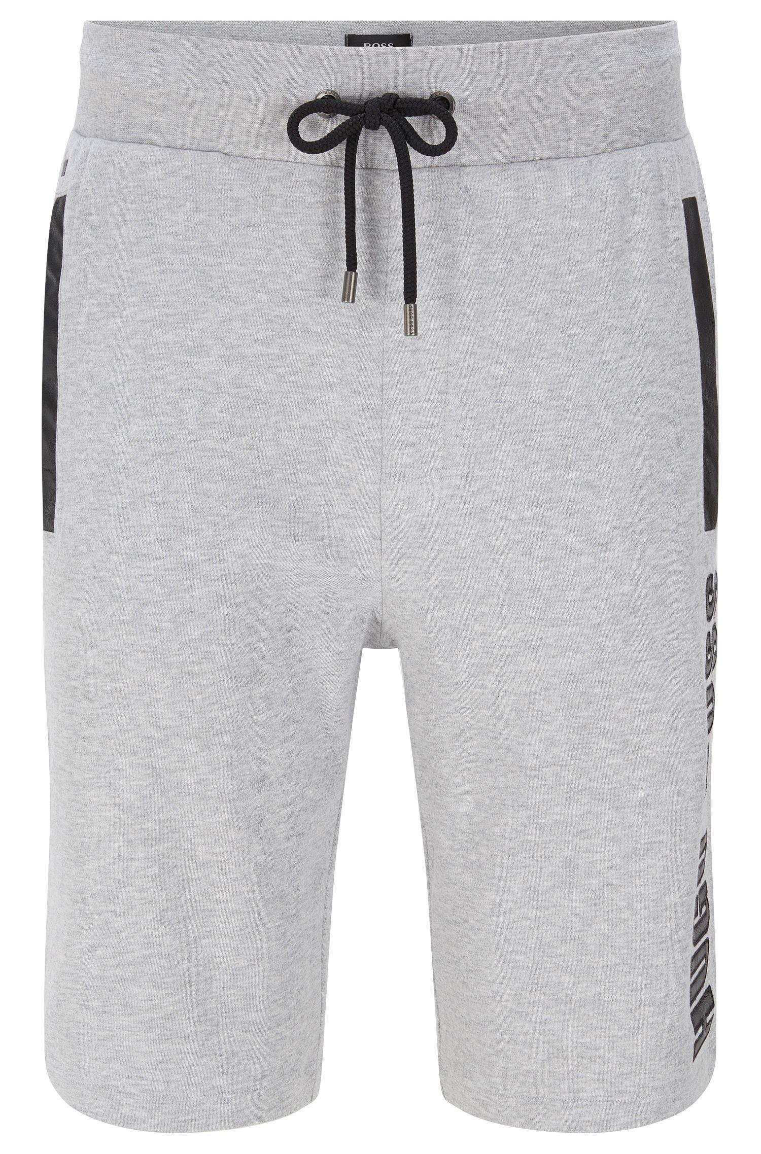 Shorts de chándal en algodón con detalles de piel sintética: 'Short Pant'
