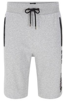 Shorts de chándal en algodón con detalles de piel sintética: 'Short Pant', Gris