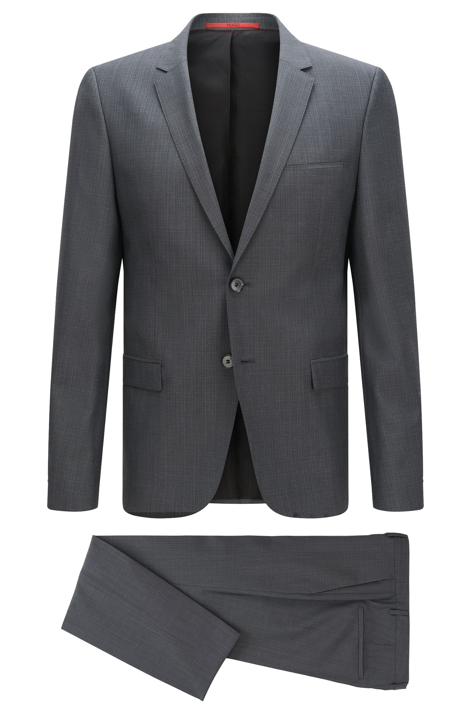 Patterned slim-fit suit in new wool: 'Arti/Heilo'