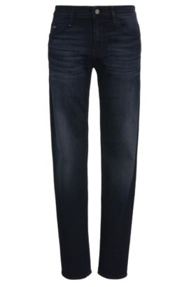 Slim-fit jeans in stretch cotton: 'Drake2', Dark Blue