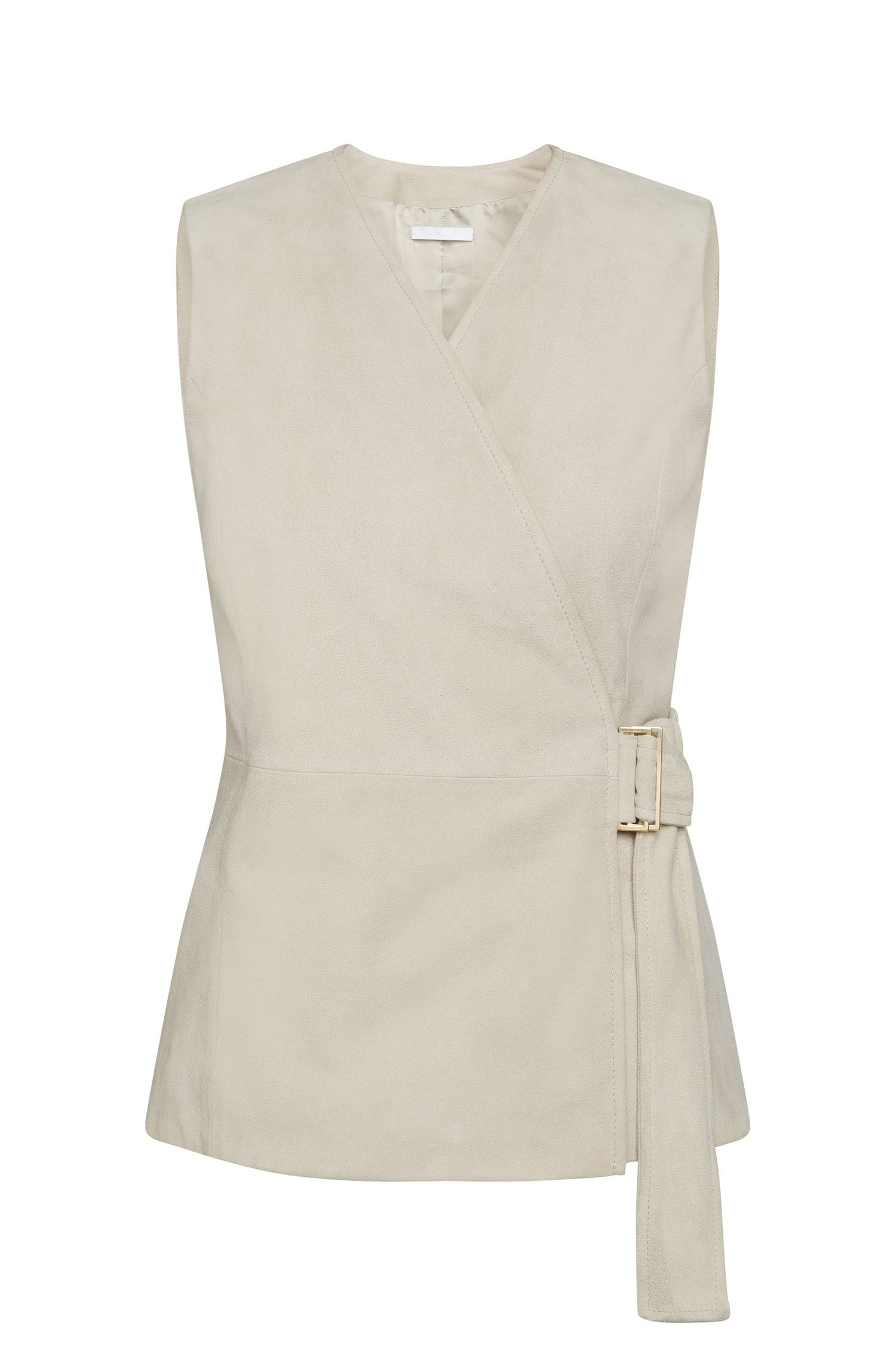 Leather waistcoat with wrap belt: 'Stiola'