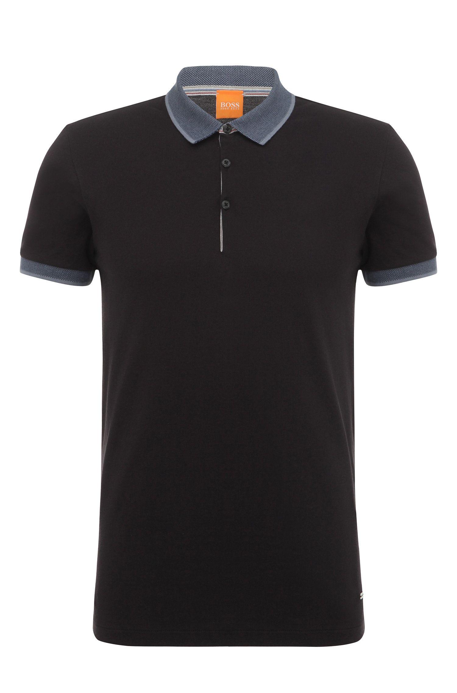 Regular-fit cotton polo shirt: 'Pejo 1'