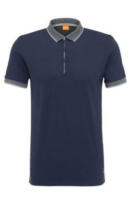 Polo Regular Fit en coton: «Pejo1», Bleu foncé