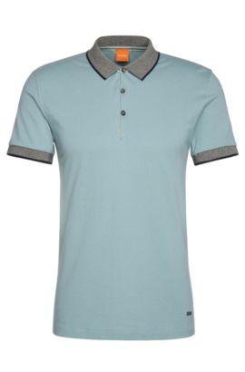 Polo Regular Fit en coton: «Pejo1», Bleu vif