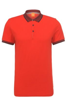 Polo regular fit en algodón: 'Pejo 1', Rojo