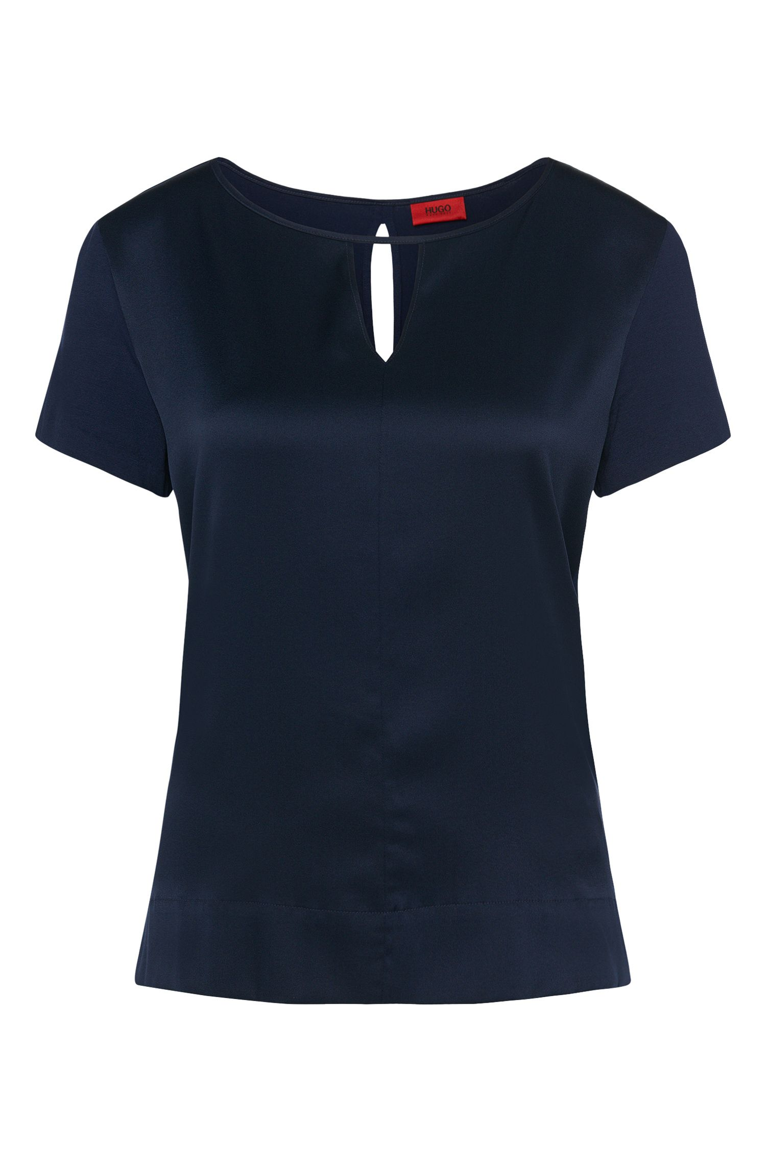 T-shirt in stretchy silk and stretch viscose: 'Niseida'