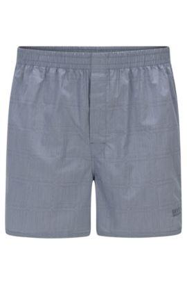 Boxer regular fit in cotone a disegni delicati: 'Boxer Short CW', Grigio chiaro