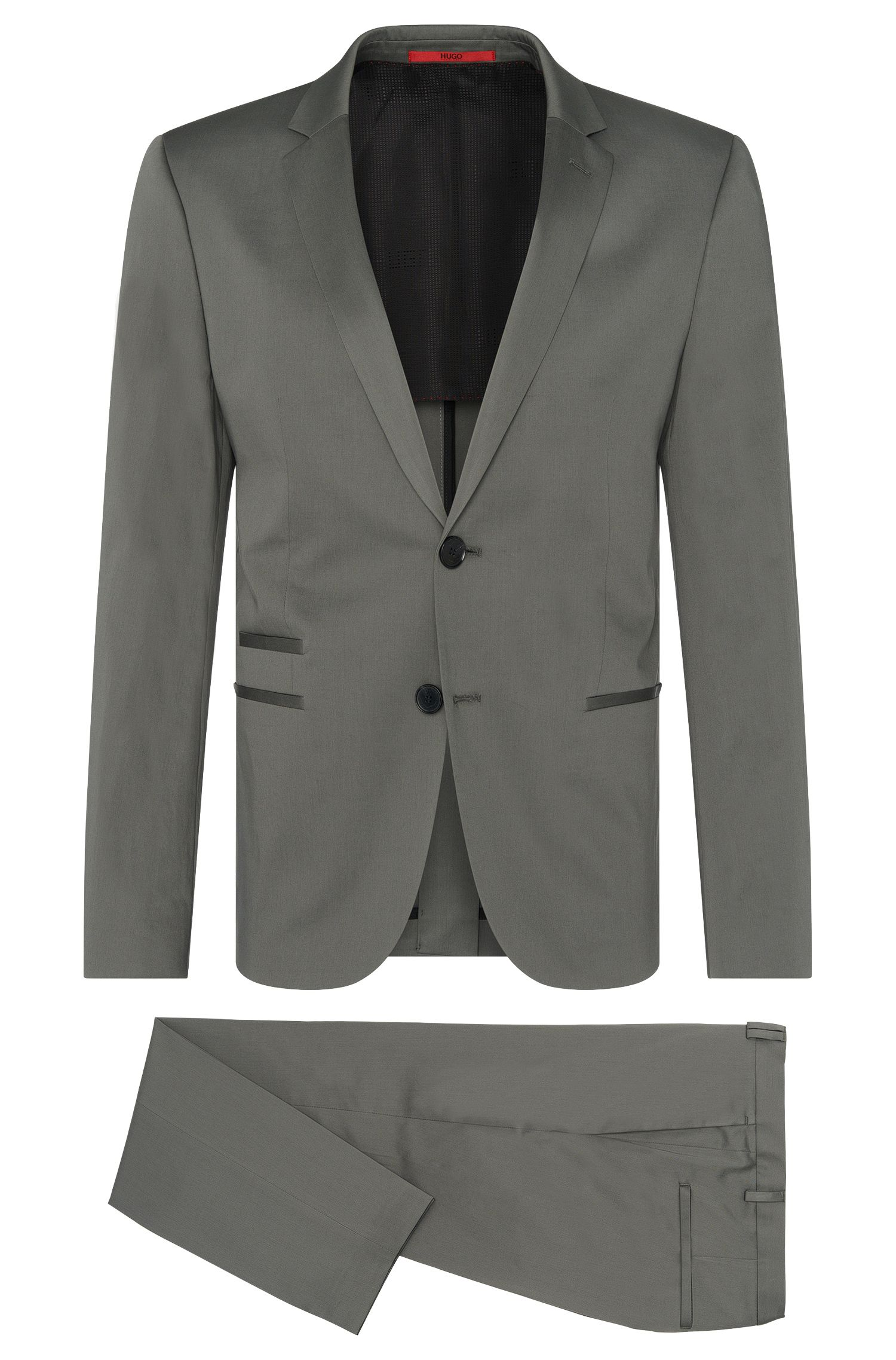 Slim-fit suit in stretch cotton: 'Arlid/Herlin'