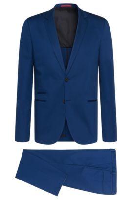 Slim-Fit Anzug aus Stretch-Baumwolle: 'Arlid/Herlin', Blau