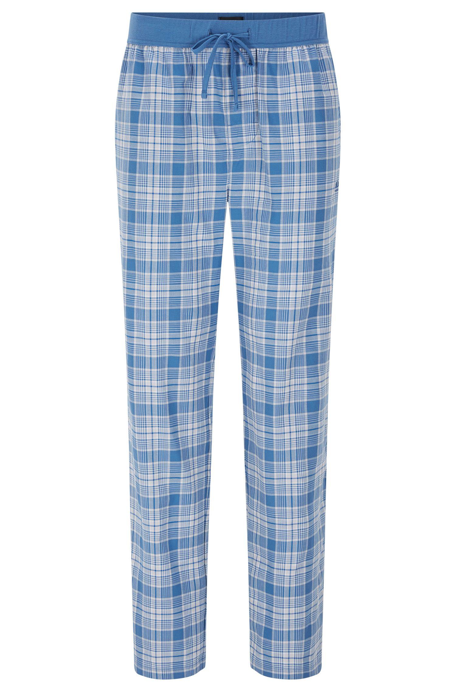 Geruite pyjamabroek van katoen met tunnelkoord: 'Long Pant CW'