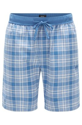 Checked pyjama shorts in cotton: 'Short Pant CW', Light Blue