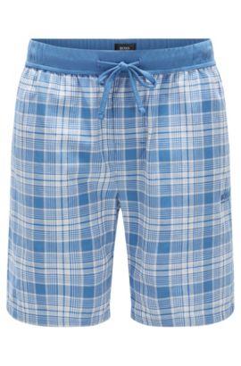 Karierte Pyjama-Shorts aus Baumwolle: 'Short Pant CW', Hellblau