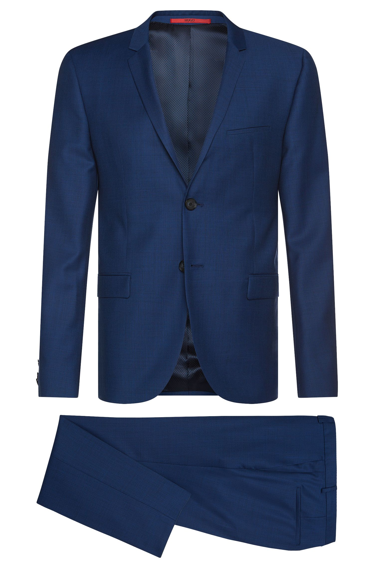 Extra slim-fit suit in finely textured new wool: 'Adris4/Heilon'