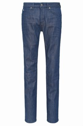 Slim-fit jeans in stretch cotton: 'C-DELAWARE1', Blue
