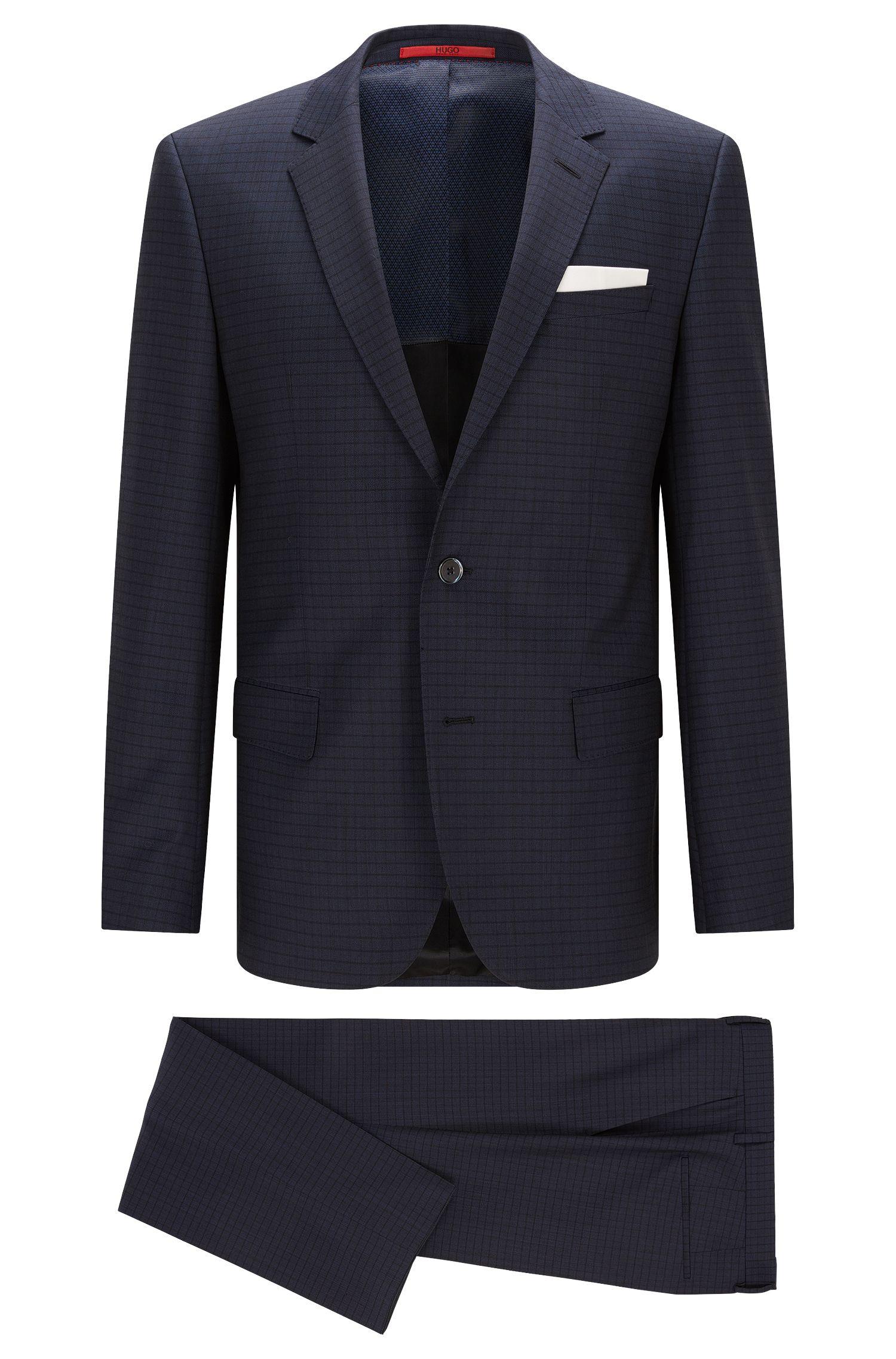 Gestreifter Slim-Fit Anzug aus Schurwolle: 'C-Hutson1/C-Gander'