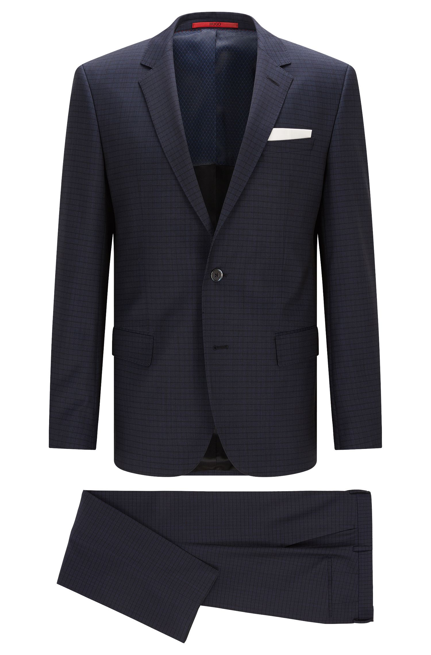 Striped slim-fit suit in new wool: 'C-Hutson1/C-Gander'