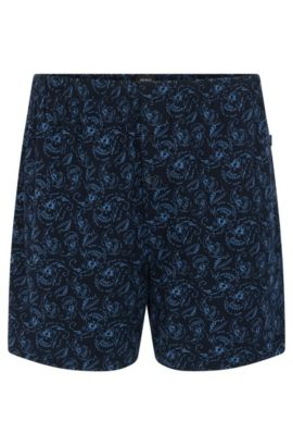 Patterned boxer shorts in cotton and modal: 'Boxer Short CW', Patterned