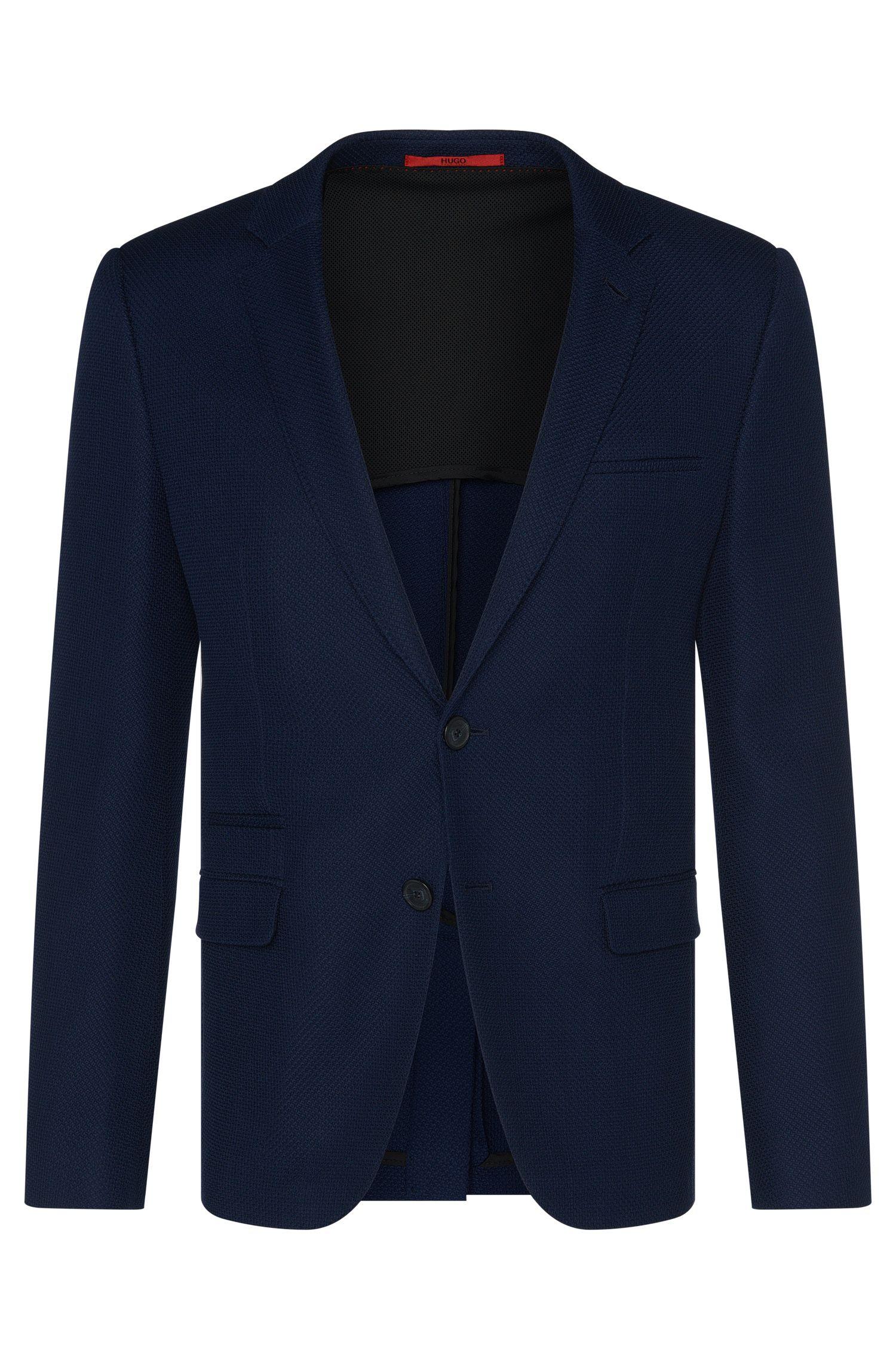 Veste de costume Slim Fit en laine vierge mélangée, avec du coton: «Artyn»