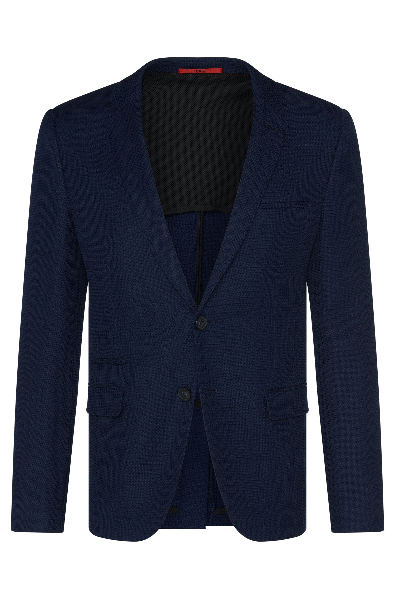 Slim-fit jacket in new-wool blend with cotton: 'Artyn'