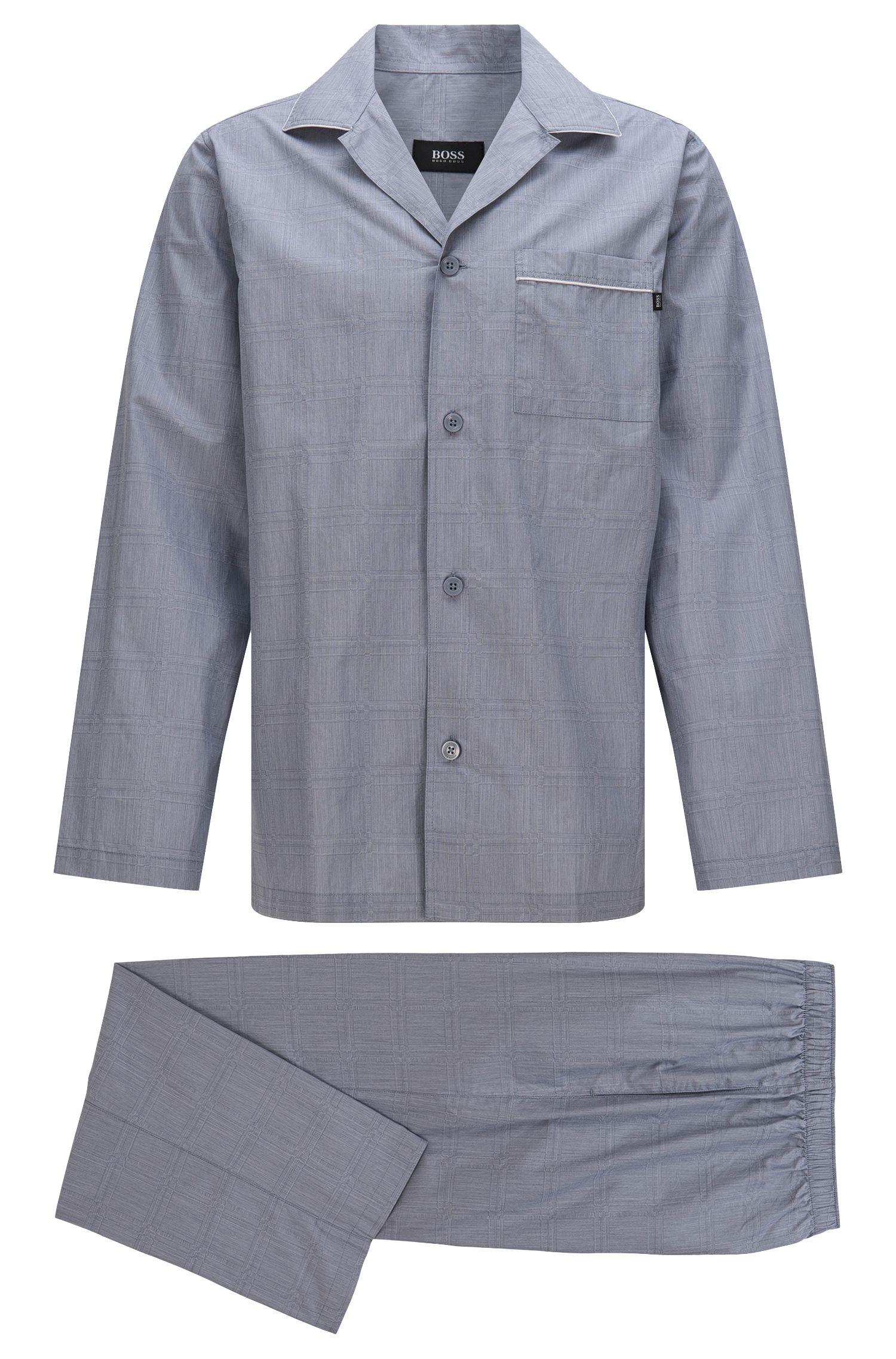 Pyjama en coton à poche-poitrine et ceinture élastique: «Pyjama2»