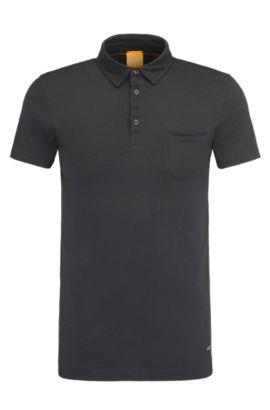 Polo regular fit en algodón: 'Perpignan 1', Negro