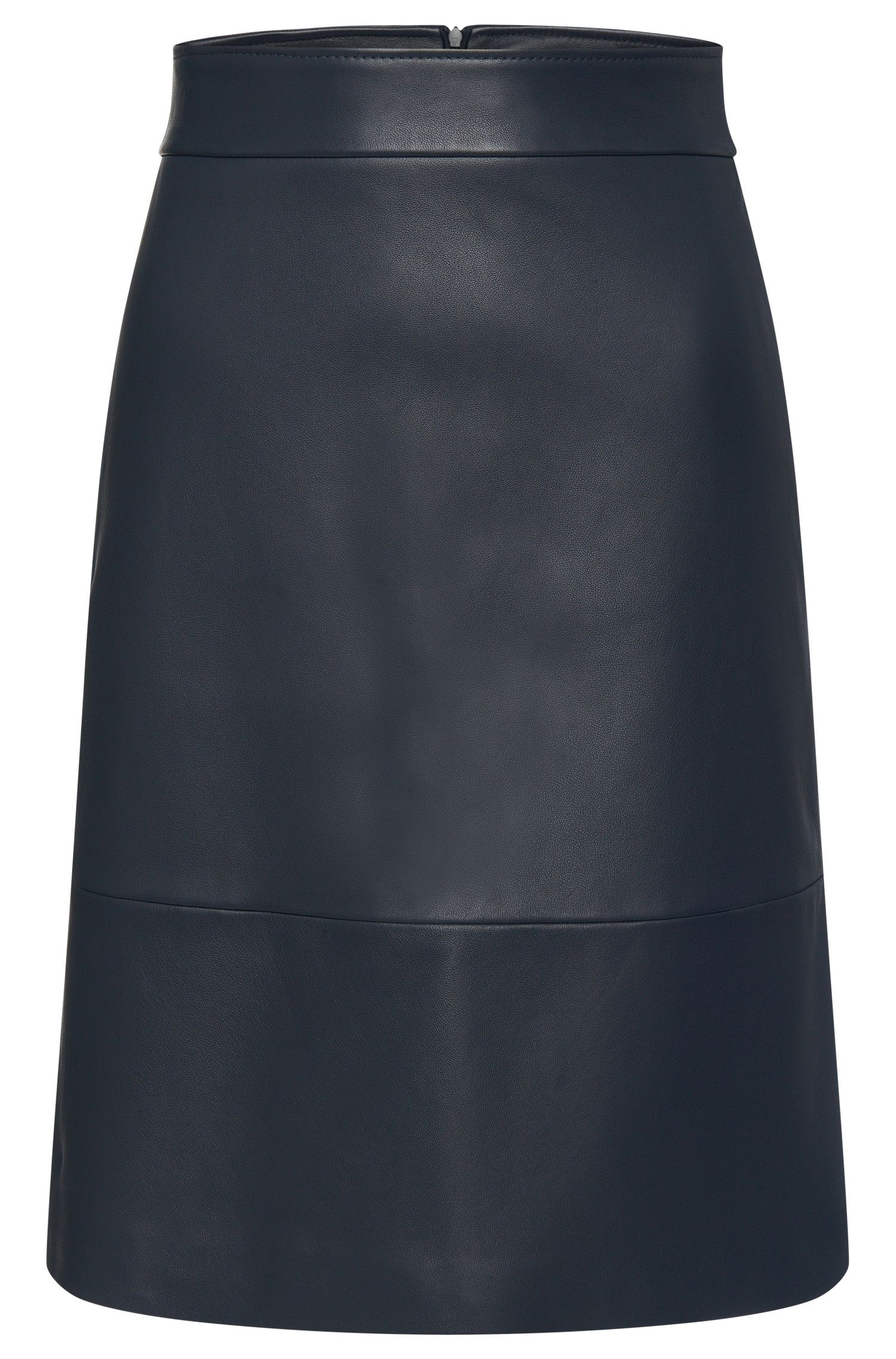 Slightly flared leather skirt: 'Secille'