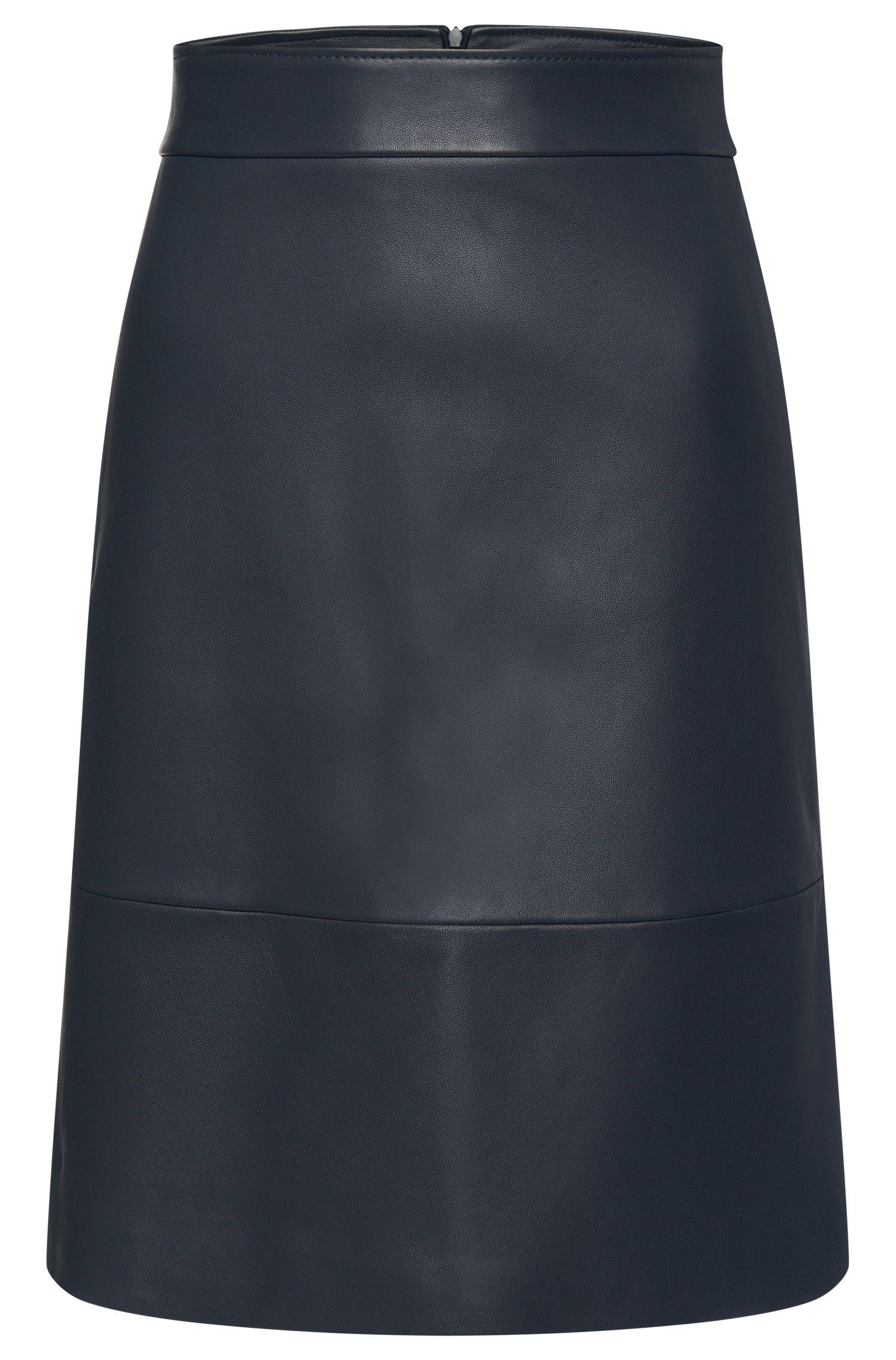 Falda de piel con vuelo ligero: 'Secille'