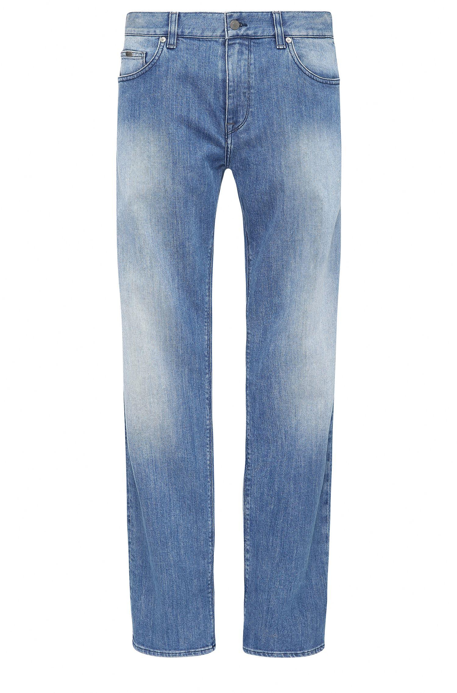 Regular-fit jeans van stretchkatoen met wassing: 'C-MAINE1'