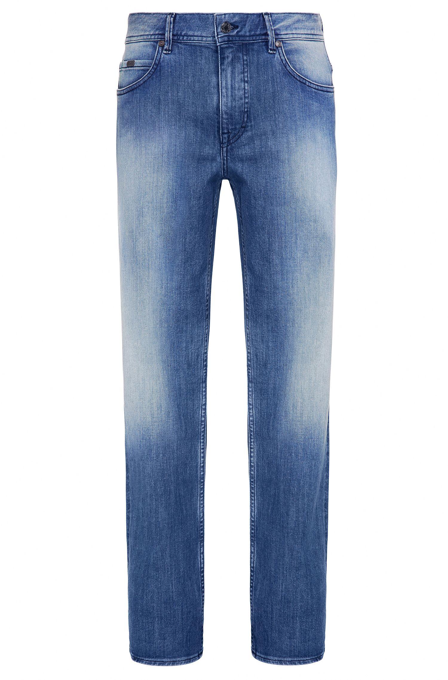 Jeans Regular Fit en coton stretch à la finition vintage: «Deam30»