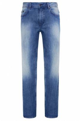 Jeans Regular Fit en coton stretch à la finition vintage: «Deam30», Turquoise